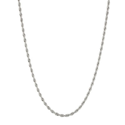 Mens 4mm Stainless Steel Rope Chain