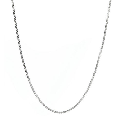 Mens Stainless Steel Box Chain Necklace