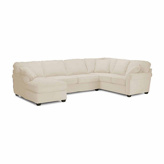 Fabric Possibilities Roll Arm 3-Pc Left Arm Chaise Sectional