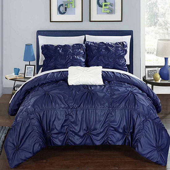 Chic Home Hamilton 8-pc. Embroidered Duvet Cover Set