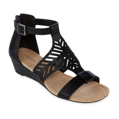 St. John's Bay Womens Nikita Wedge Sandals