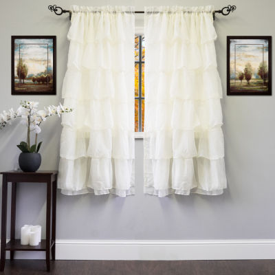 Gypsy Crushed Voile Cascading Layer Window Treatment Collection