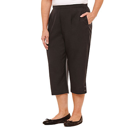 Alfred Dunner High Rise Plus Capris, 20w , Black