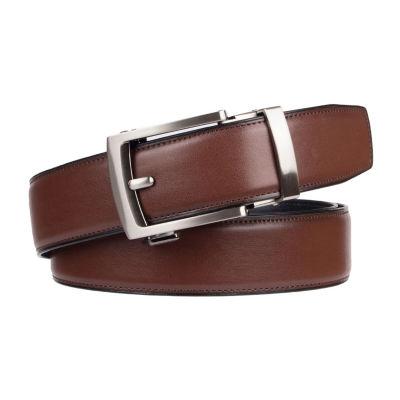 Exact Fit Men's Belt with Gunmetal Harness Buckle