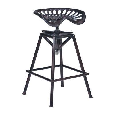Armen Living Osbourne Adjustable industrial Metal Barstool