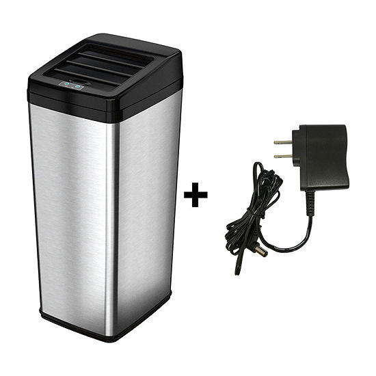 iTouchless 14 Gallon Automatic Sensor Touchless Trash Can with Space Saving Lid