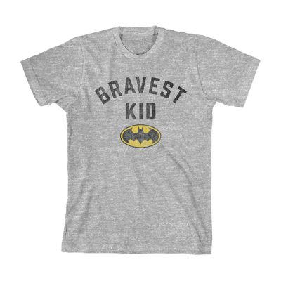 Boys Crew Neck Short Sleeve Batman Graphic T-Shirt-Toddler