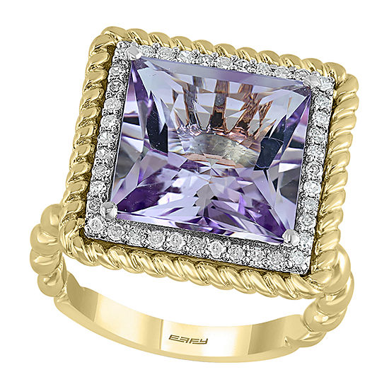LIMITED QUANTITIES! Effy Final Call Womens 1/5 CT. T.W. Genuine Pink Amethyst 14K Gold Cocktail Ring