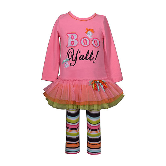 Bonnie Jean Halloween Girls 2-pc. Legging Set-Baby