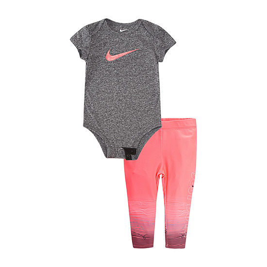 Nike 2-pc. Bodysuit Set-Baby Girls