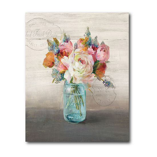 Courtside Market French Cottage Bouquet Canvas Art