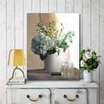 Courtside Market White Vase With Hydrangeas Canvas Art