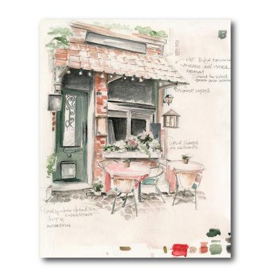 Courtside Market Cafe Study Canvas Art