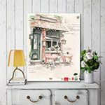 Courtside Market Cafe Study Canvas Art