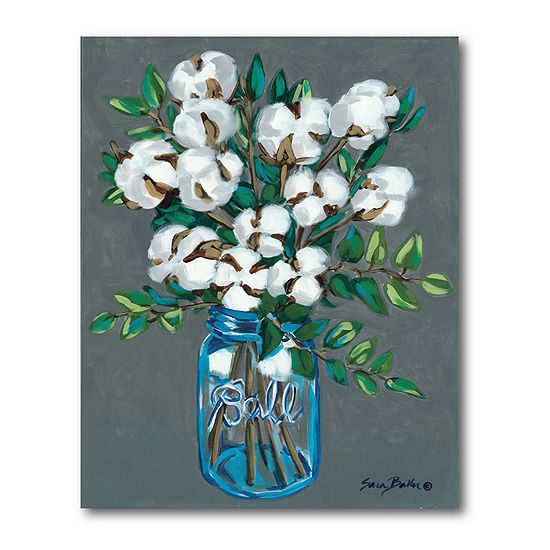 Courtside Market Vintage Blues With Cotton Canvas Art