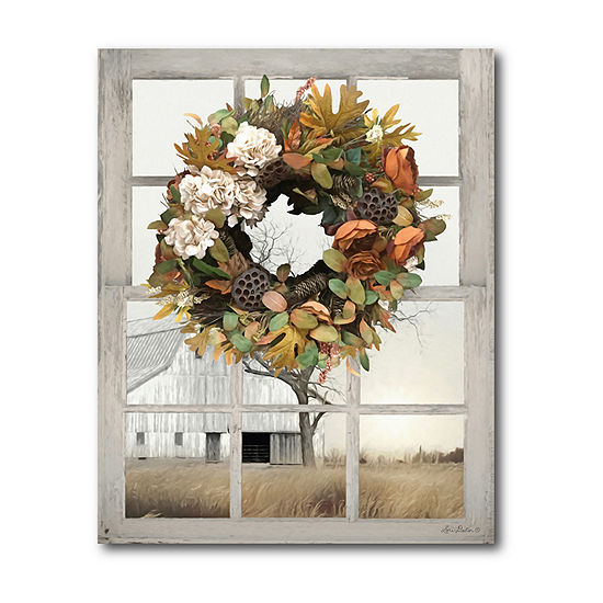 Courtside Market Fall Window View Canvas Art