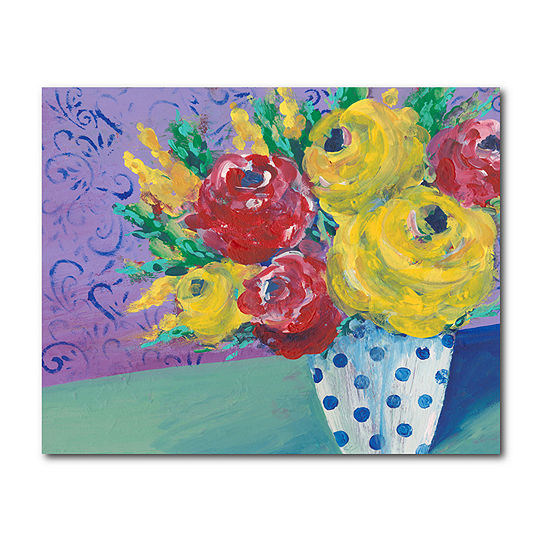 Courtside Market Fearless Floral Canvas Art