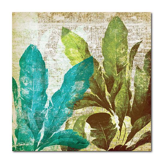Courtside Market Tropical Leaves Canvas Art