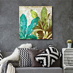Courtside Market Tropical Leaves Canvas Art