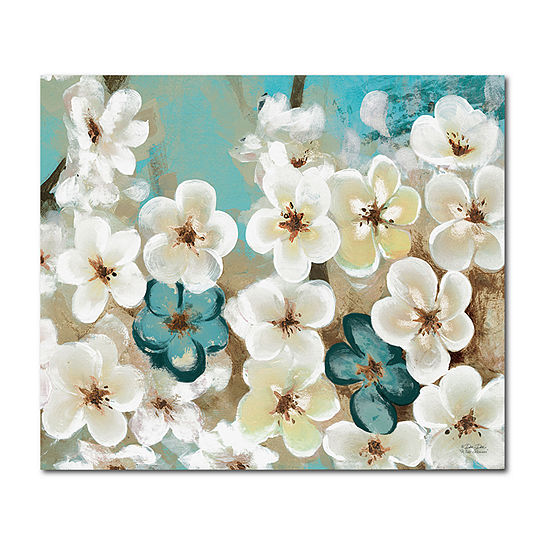 Courtside Market White Flowers Canvas Art