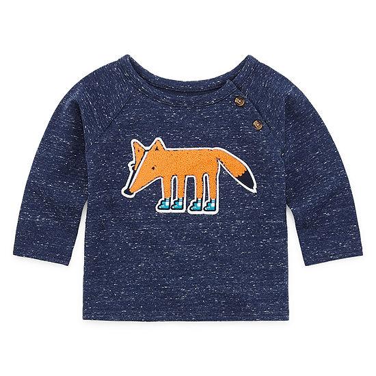 Okie Dokie Boys Crew Neck Long Sleeve Sweatshirt - Baby