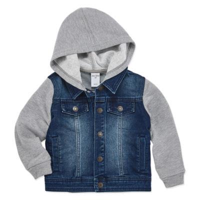Okie Dokie Boys Cuffed Sleeve Hoodie-Toddler