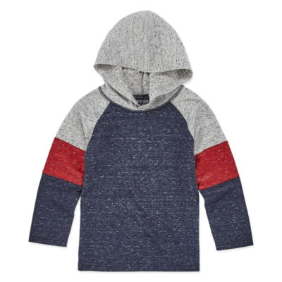 Okie Dokie Boys Hooded Neck Long Sleeve T-Shirt-Toddler
