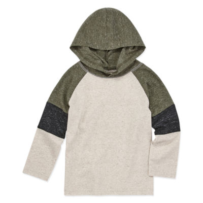 Okie Dokie Boys Hooded Neck Long Sleeve T-Shirt-Toddler