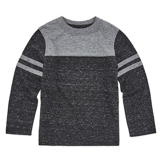 Okie Dokie Boys Crew Neck Long Sleeve T-Shirt-Toddler