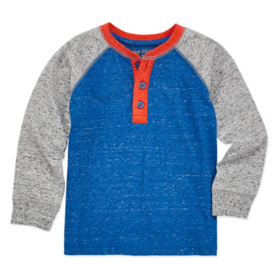 Okie Dokie Boys Long Sleeve Henley Shirt - Toddler