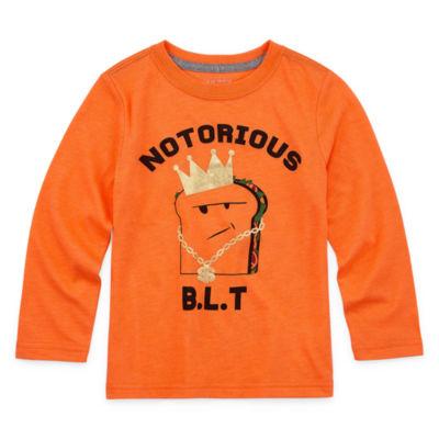 Okie Dokie-Toddler Boys Crew Neck Long Sleeve Graphic T-Shirt