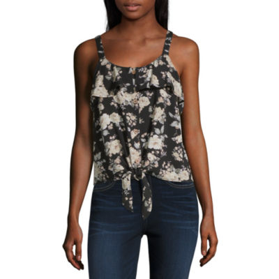 Almost Famous Womens Square Neck Sleeveless Tank Top Juniors