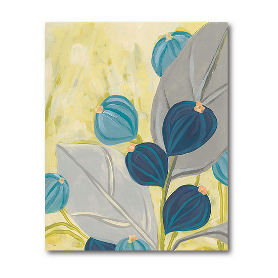 Courtside Market Contemporary Leaves Canvas Art
