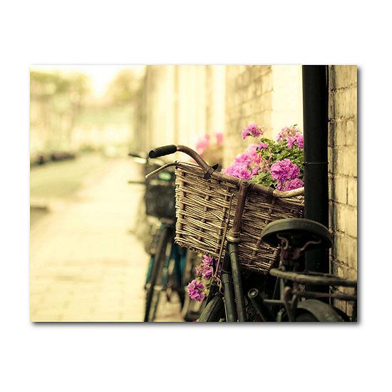 Courtside Market Cut Paper Bouquet Canvas Art