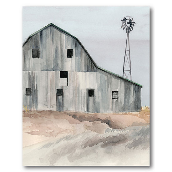 Courtside Market Rustic Barn Canvas Art