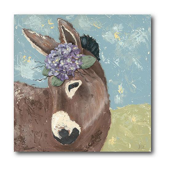 Courtside Market Pretty Donkey Canvas Art