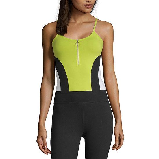 Flirtitude Womens U Neck Sleeveless Bodysuit-Juniors