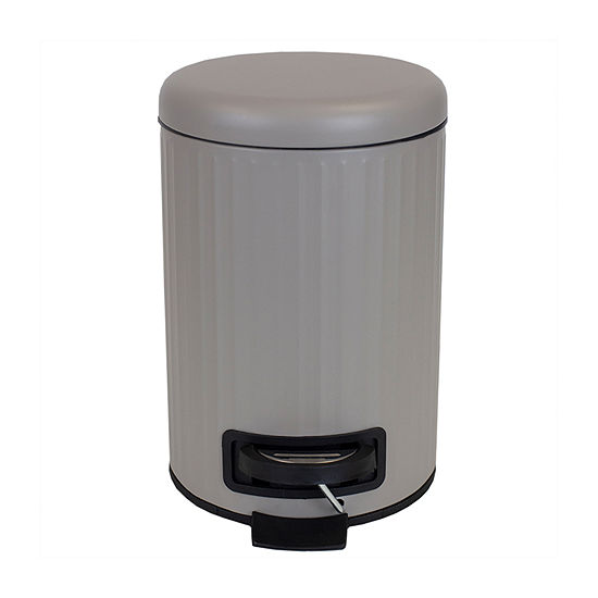 Home Basics Tan Trash Can