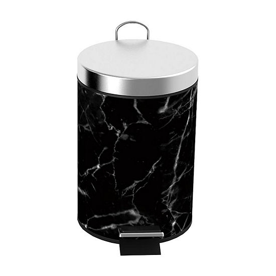 Home Basics Black Trash Can