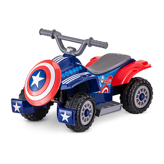 Kid Trax 6volt Toddler Quad Electric Ride-On Captain America Ride-On Quad