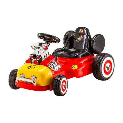 Kid Trax Disney Mickey Mouse Roadster Racer 6volt Go Cart Electric Ride-On