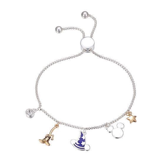 Disney Classics Crystal Mickey Mouse Bolo Bracelet