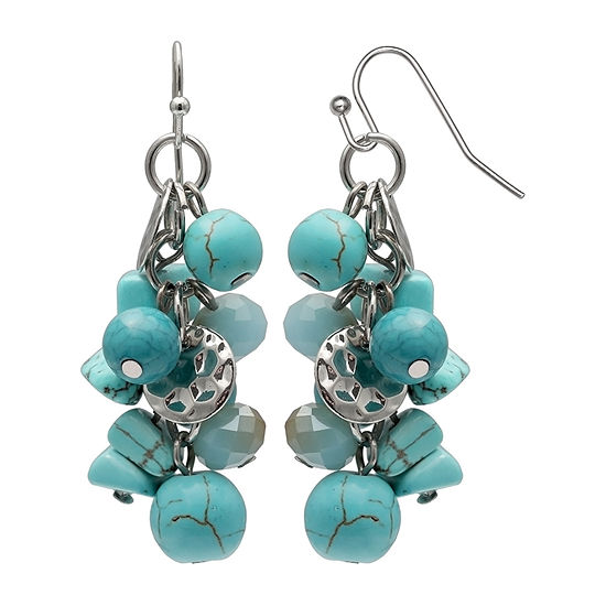 Mixit Cluster Drop Earrings