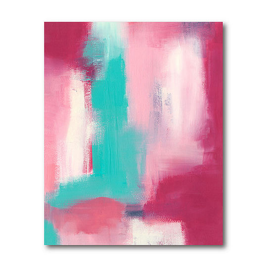 Courtside Market Abstract Pink Canvas Art