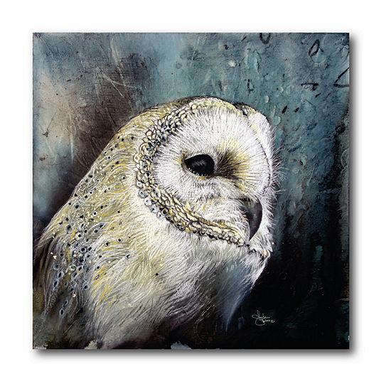 Courtside Market Thinking Owl Canvas Art
