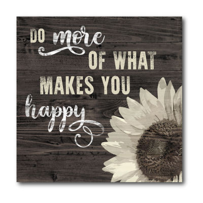 Courtside Market What Makes You Happy Canvas Art