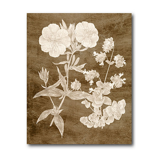 Courtside Market Botanical In Taupe Canvas Art