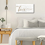 Courtside Market Love Never Fails Canvas Art