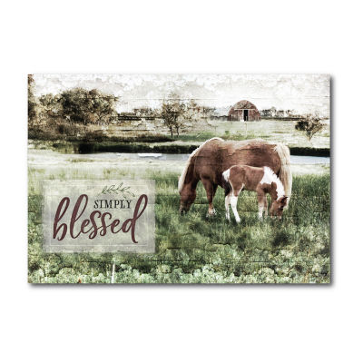 Courtside Market Simply Blessed Canvas Art