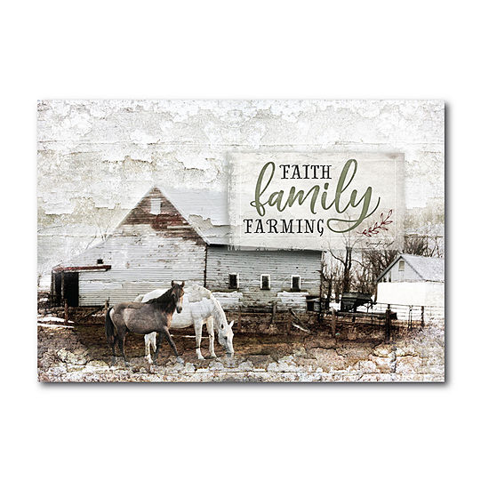 Courtside Market Faith Family Farming Canvas Art